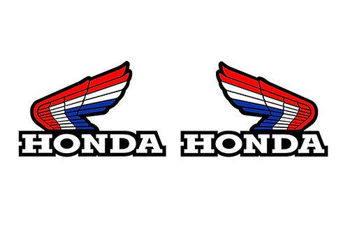 Honda Wing Tank Stickers