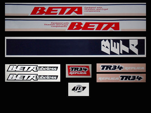 Beta TR34 trials 1988 air cooled mono adhesive decals kit