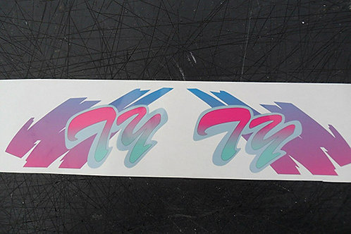 Yamaha TY250 Pinky trials tank stickers for AFTERMARKET tanks