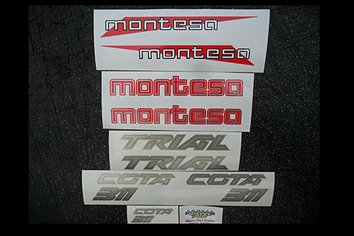Montesa Cota 311 trials mono sticker kit