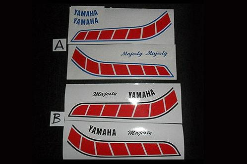 Yamaha Majesty Trials Tank Stickers: 175/200 & 250/320