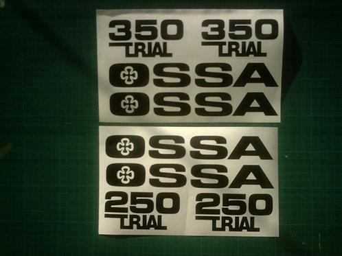 Ossa Gripper Trial 250 or Trial 350 sticker kit