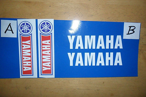 Yamaha trials fork decals