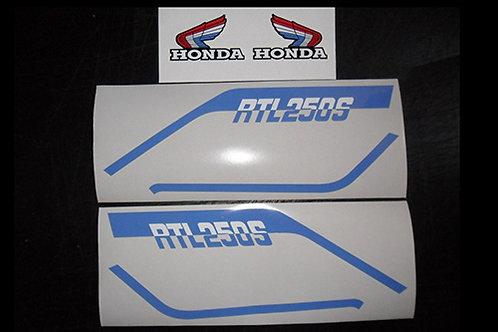 Honda RTL250 aircooled mono trials tank/s-panel sticker kit