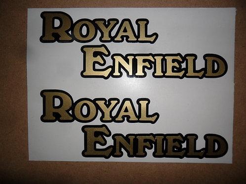 Royal Enfield adhesive vinyl tank stickers