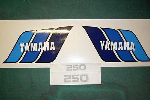 Yamaha TY 250 USA style / Yamaha DT175 / DT250 tank & s/panel decals