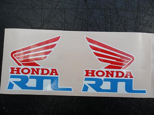 Honda RTL Tank stickers