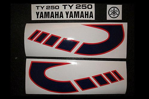 Yamaha TY 250 tank decals-twinshock trials