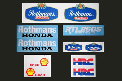 Rothmans Honda sticker kit