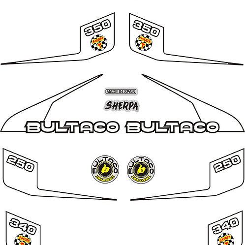 Bultaco 199B Sticker kit