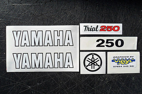 Yamaha TY250a Twinshock Trials decals