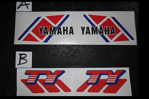Yamaha TY Tank stickers- trials decals