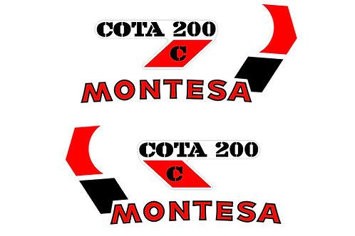 Montesa Cota 200C sticker kit