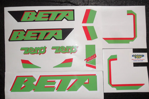 Beta Zero 1991 trials sticker kit
