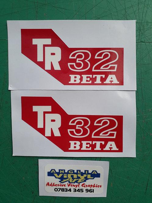 Beta TR32 tank stickers