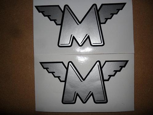 Matchless adhesive vinyl tank stickers