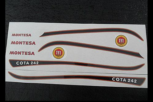 Montesa Cota 242 Twinshock Trials adhesive vinyl decal kit