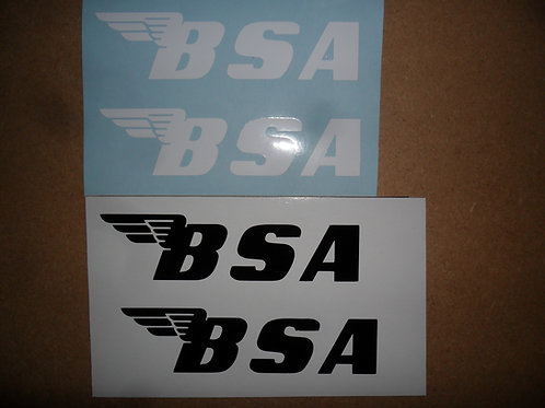 BSA Tank stickers:Choose from x2 types shown