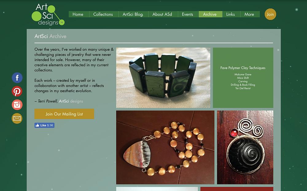 ArtSci Archive Screenshot 6/30