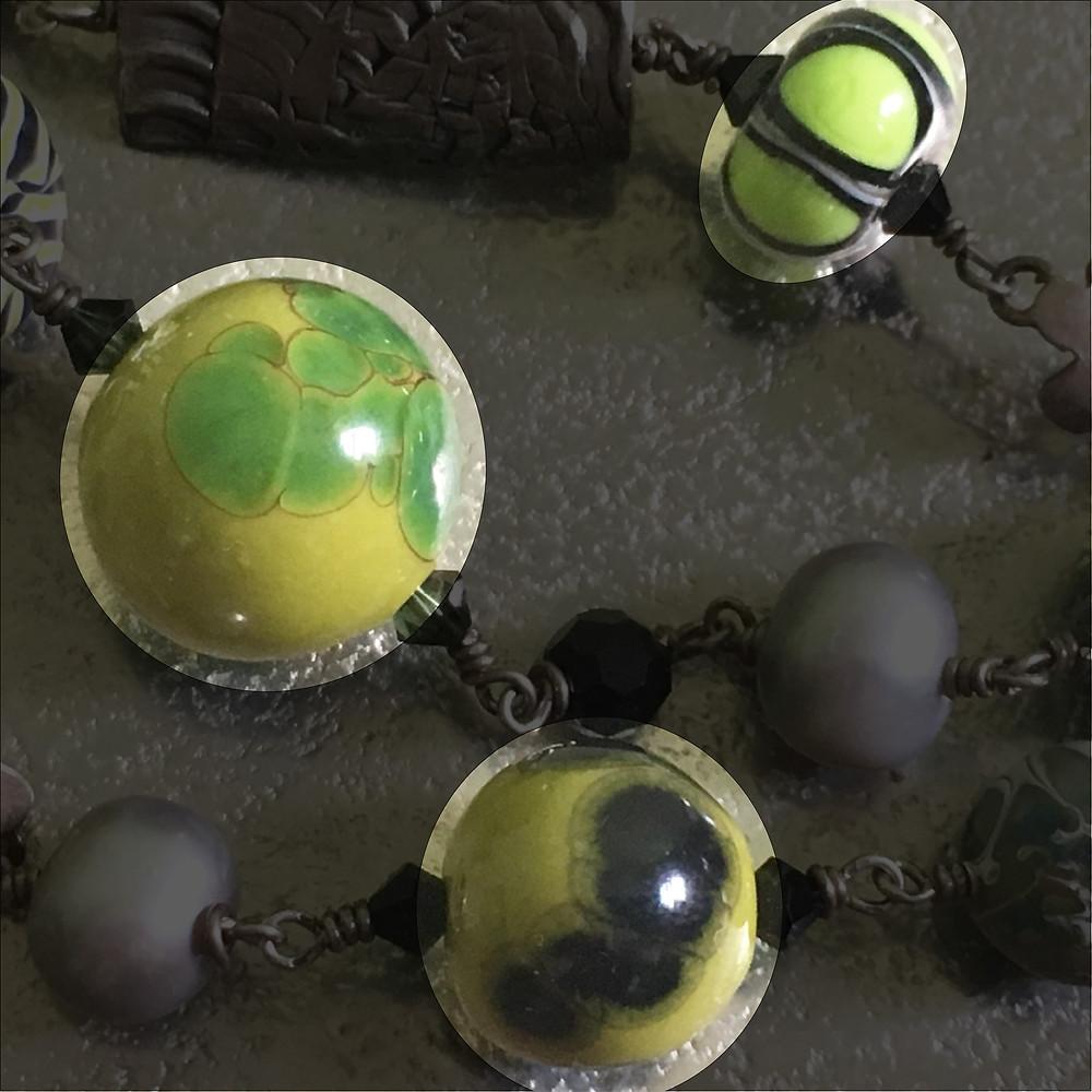 Pant's lampwork beads