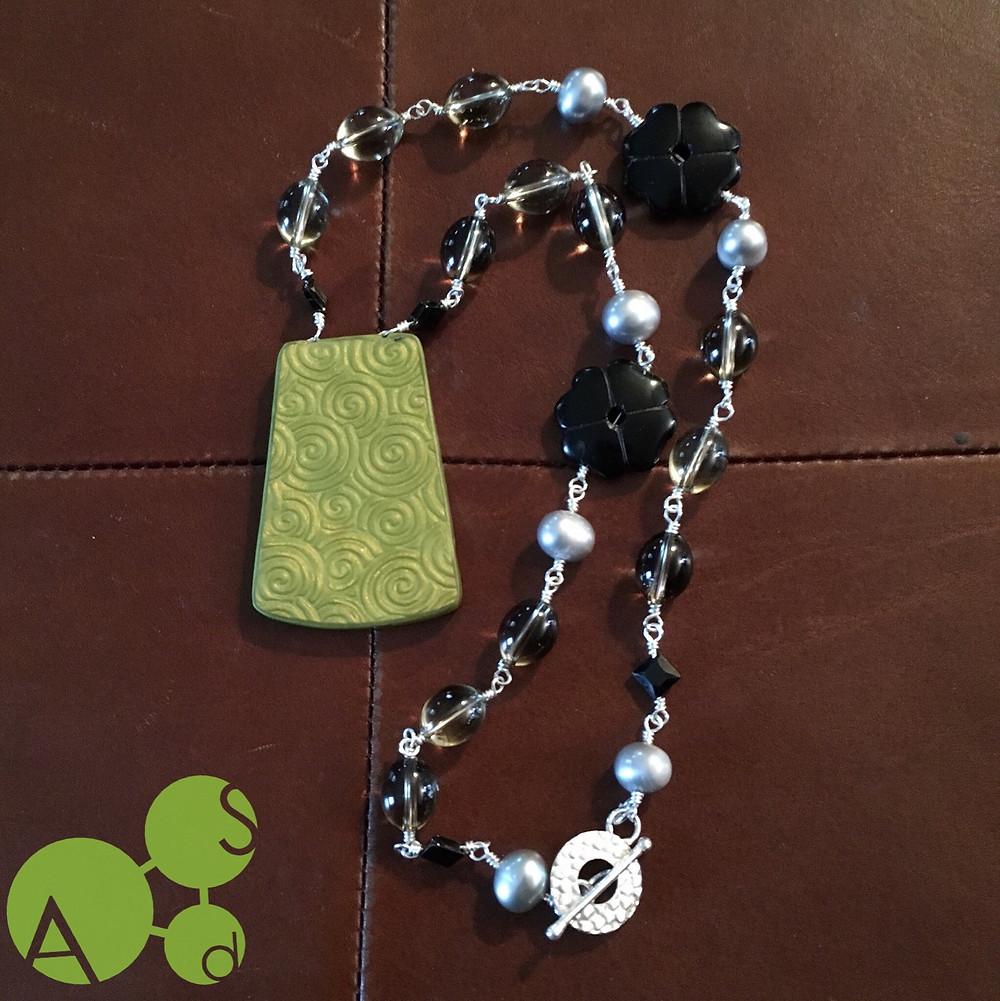 Shibori Maelstrom™ Necklace by ArtSci designs, back