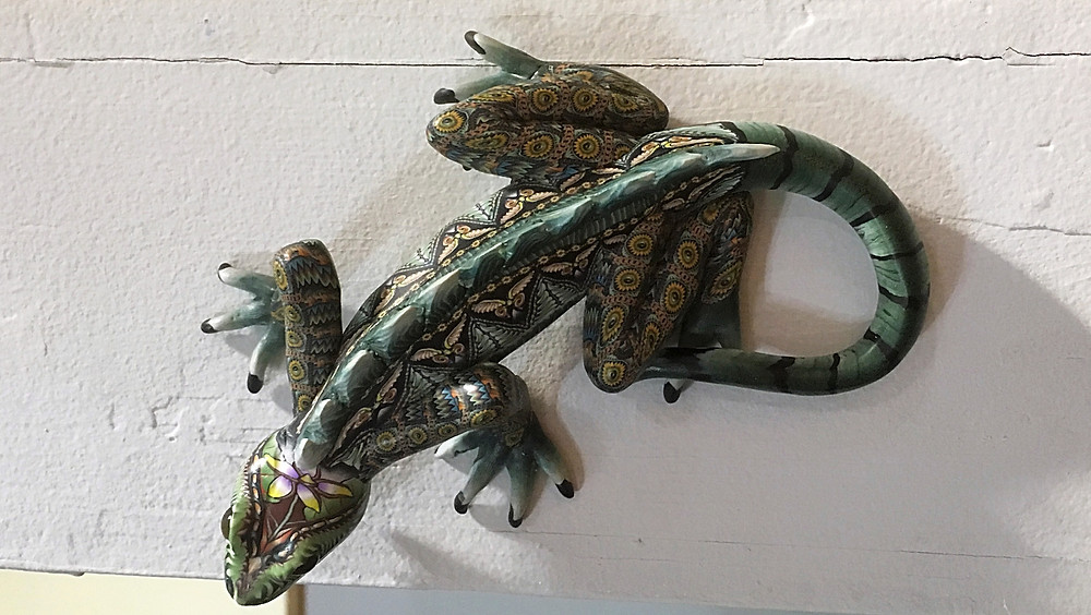 Polymer Clay Lizard  by Jon Stuart Anderson