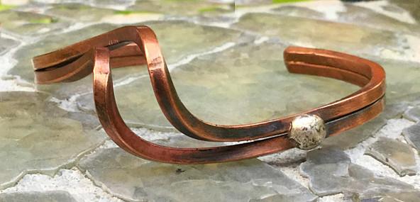Hand Formed Copper Twist Bracelet