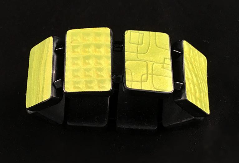 Lime Green 3-D Bracelet