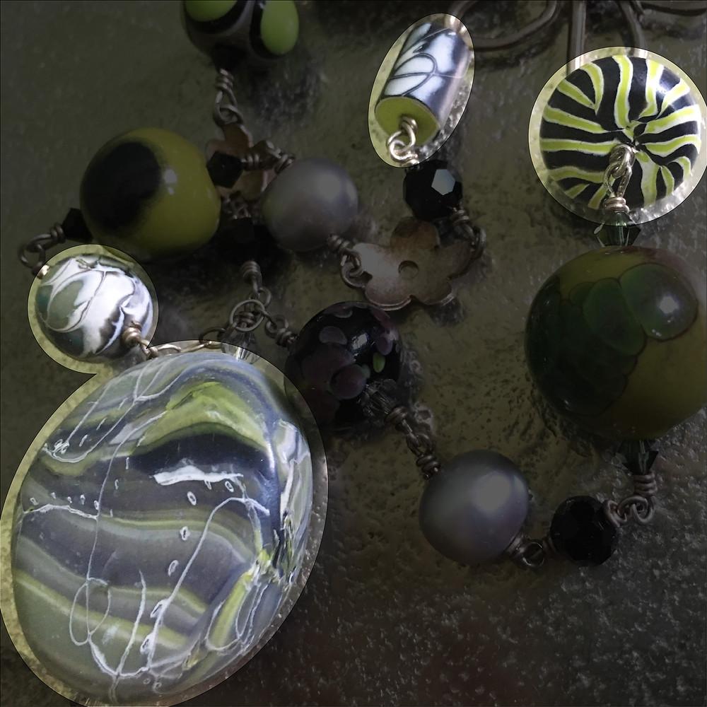 Terri Powell's polymer clay beads