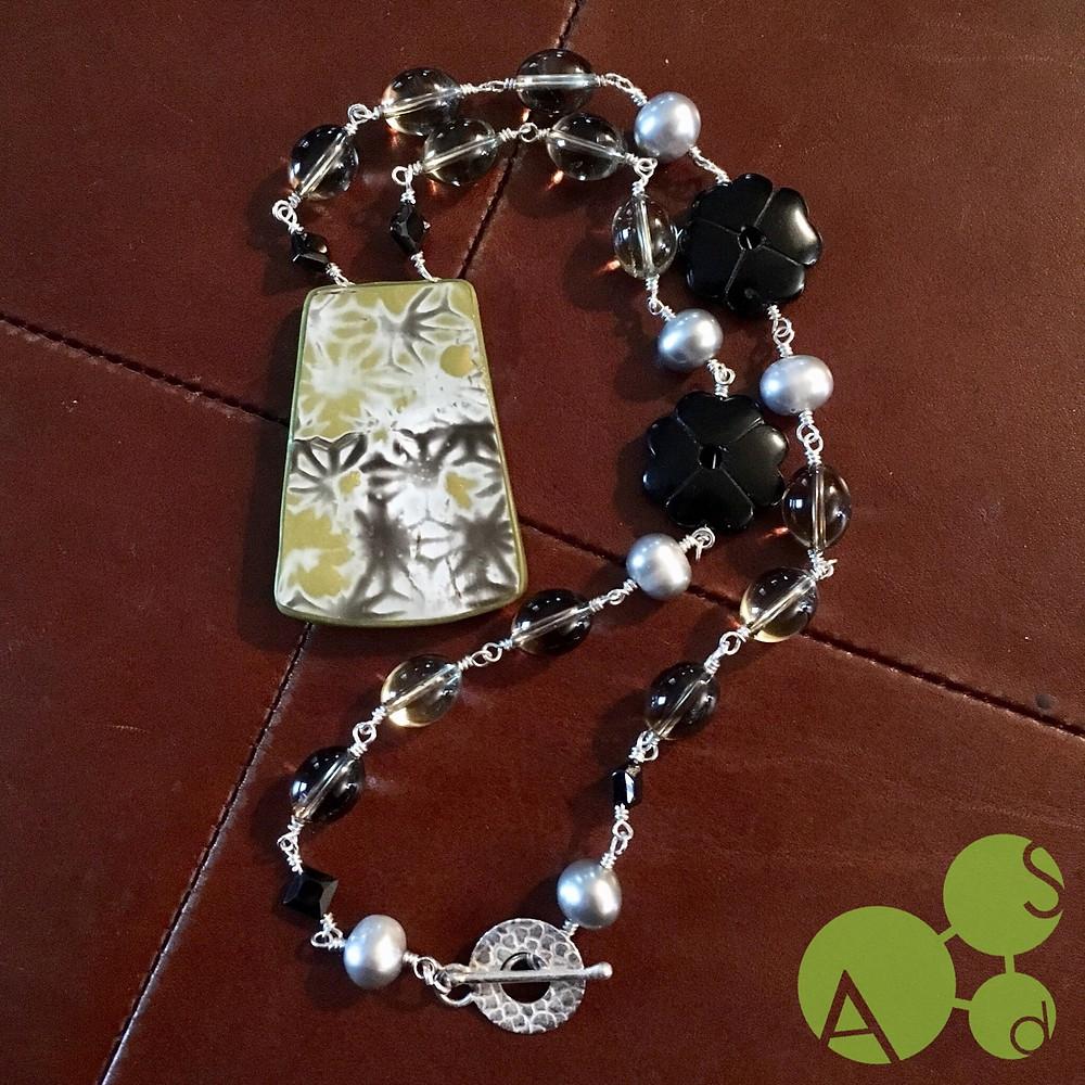 Shibori Maelstrom™ Necklace by ArtSci designs, front