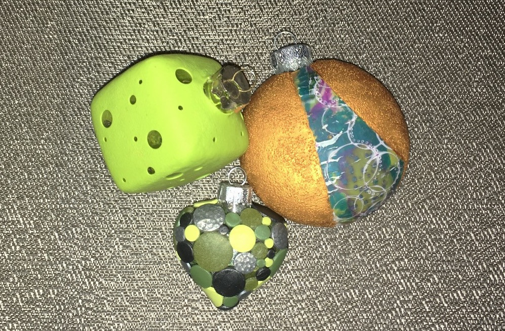 Polymer Clay Enrobed Glass Ornaments