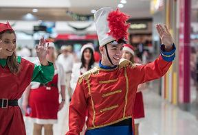 Christmas parade performers