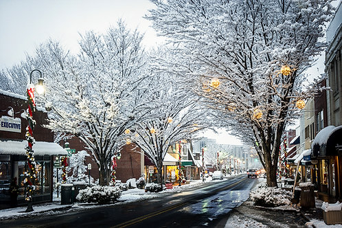 """""""Winter In Waynesville"""" 16""""x 24"""" Solid Faced Canvas Print"""