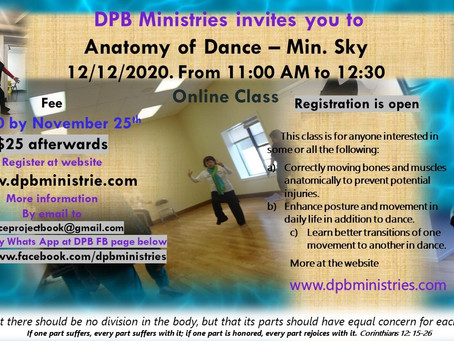 Anatomy of Dance Class on December 12th 2020