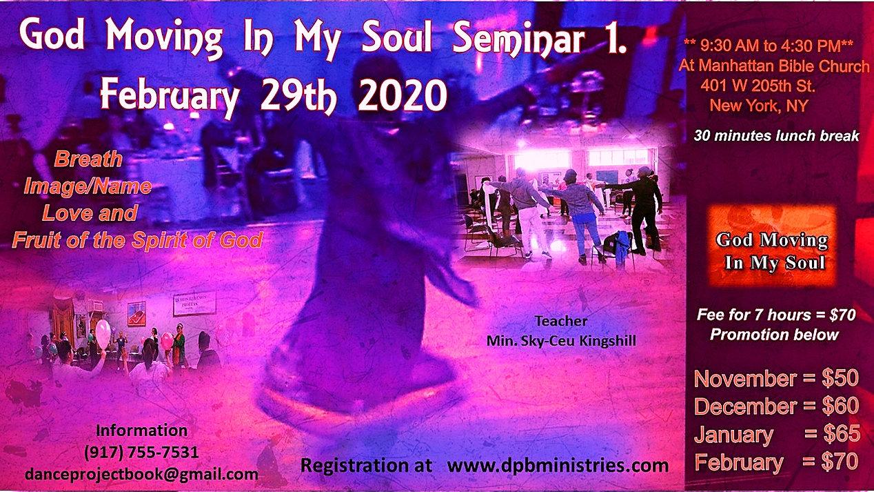 God Moving In My Soul  Seminar 1   2020.