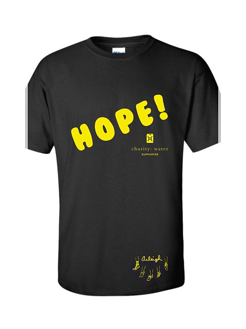 Hope! T-Shirt: A portion of the proceeds from this shirt benefits charity: water