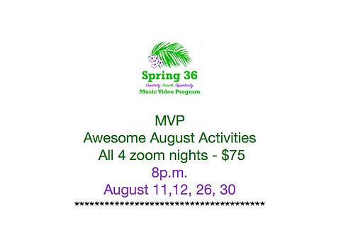 MVP Nights 1, 2, 3, and 4