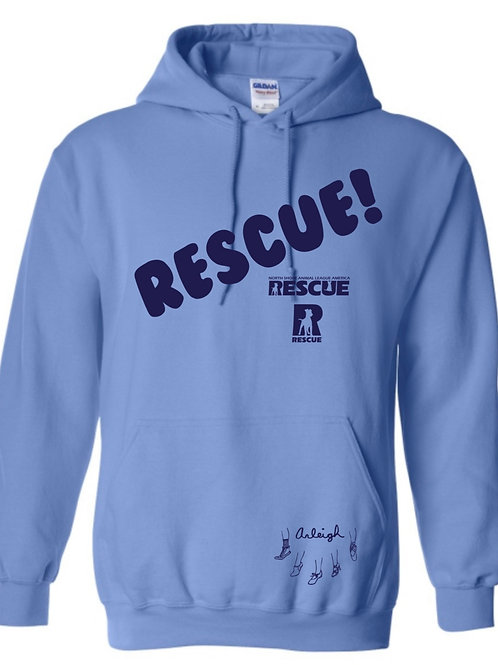 """Rescue!"" Hoodie - supporting North Shore Animal League America"