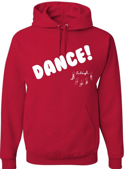 Arleigh Dance Hoodie - Red with White Print