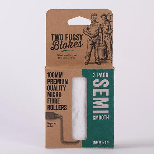Two Fussy Blokes Mini Roller Sleeve 10mm (Semi Smooth) 3 Pack