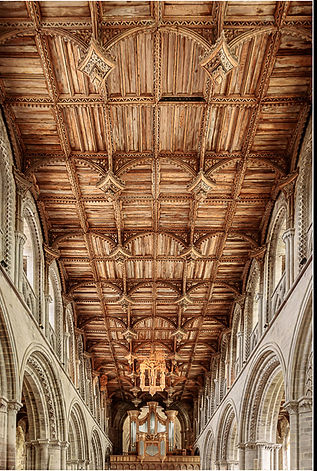 03~ Oak Ceiling ~ St Davids Cathedral.jp