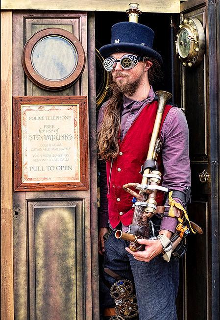 A Steampunk and His Tardis.jpg