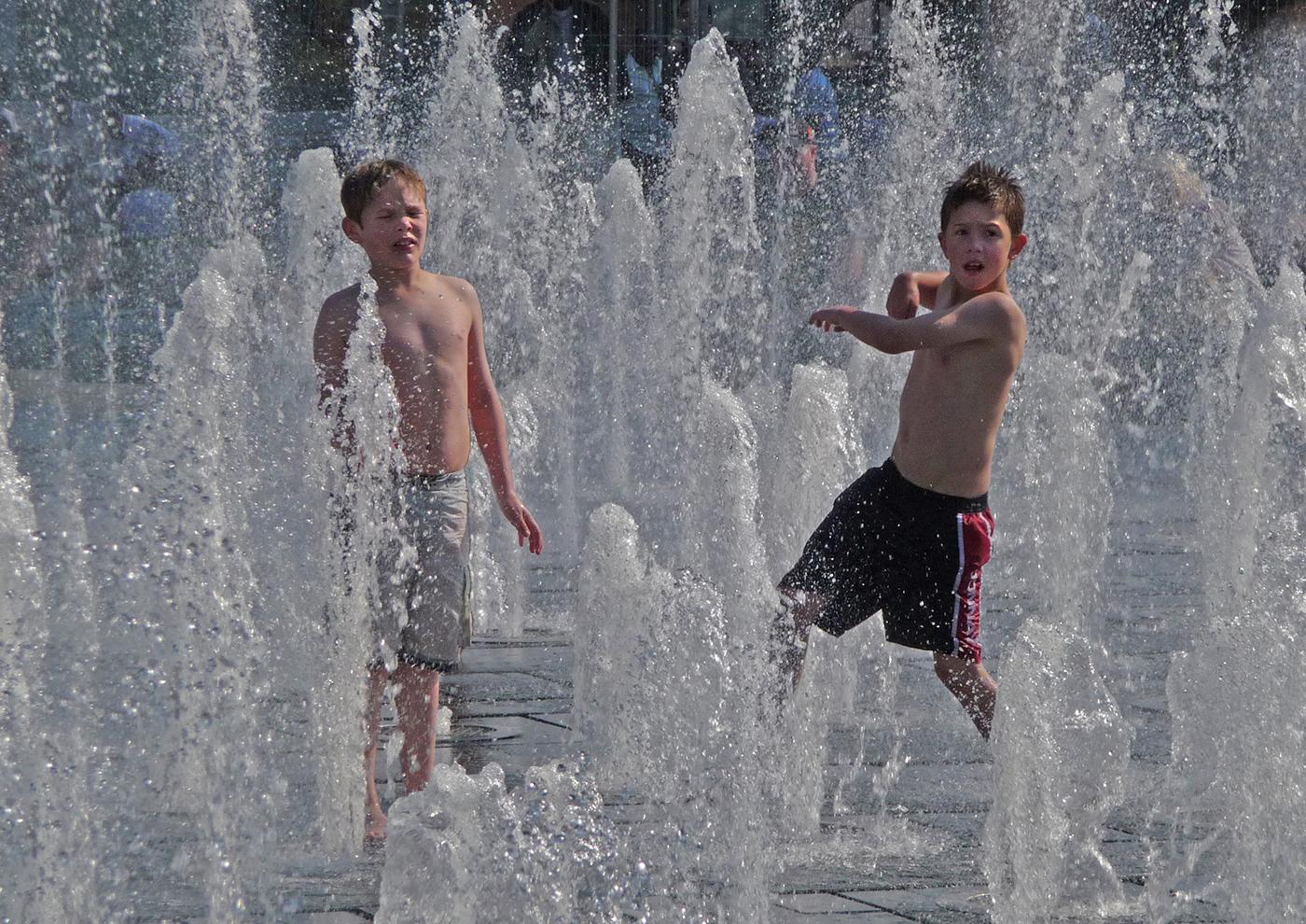 Boys having fun By Doug Allan