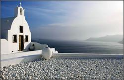 Serene Santorini By Chris Nicholls