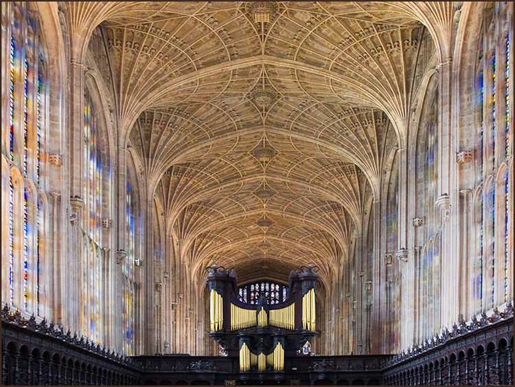 Fan roof.King's Chapel By John Hall
