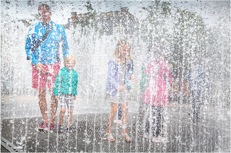 Fountain Fun By Dennis Wood