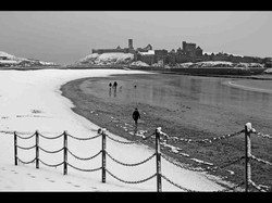 Snow beside the Seaside