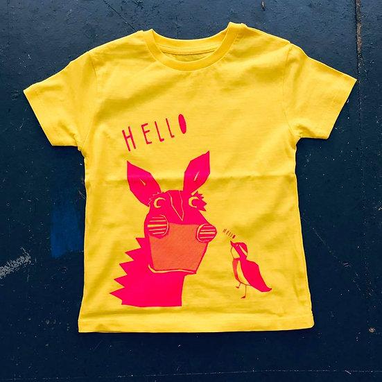 Yellow & Pink T-shirt (Age 3-4)