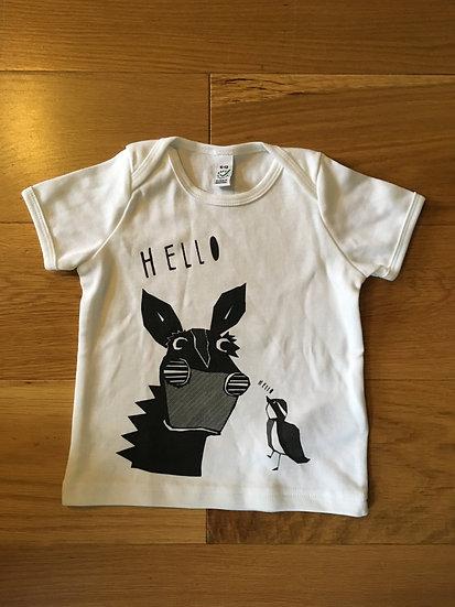 Organic White & Black T-shirt (Age 12-18 months)