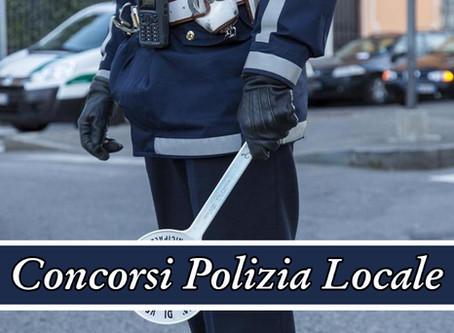 Concorsi per 49 posti di Agenti di Polizia Locale in vari Comuni